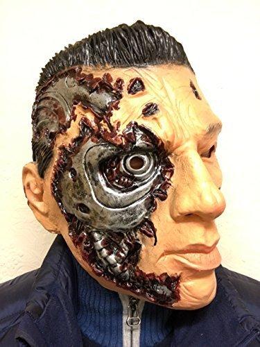 Rubber Johnnies TM Terminator Masque Latex Cyborg GENYSIS Visage Masques Robot Arnold Film