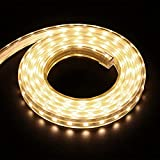 XUNATA 5m 220V Tiras LED, SMD 5050 60LEDs/m, IP67 Impermeable, Escalera de Techo Blancas Tira de LED Cocina Cable Luces LED Blanco...