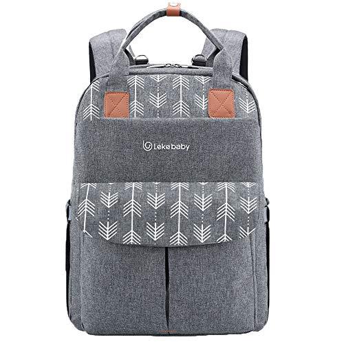 Lekebaby Baby Wickelrucksack Wickeltasche Große Kapazität Babytasche Reisetasche für Unterwegs