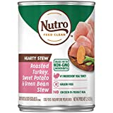NUTRO HEARTY STEW Adult High Protein Natural Wet Dog Food Cuts in Gravy Roasted Turkey, Sweet Potato...
