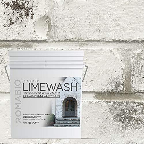 Romabio Classico Limewash Interior/Exterior Paint,...