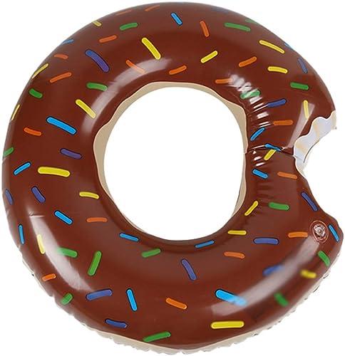 Schwimmen Ring Erwachsene Frau Mann Verdickung Berg Anf er Kind Wasser Aufblasbare Spielzeug Brown Mode Niedlich HUYP (Größe   120)