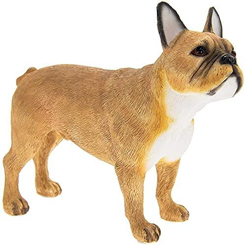 The Leonardo Collection Leonardo Dog Studies French Bulldog Fawn/Tan Figure/Ornament, Resin, H11cm