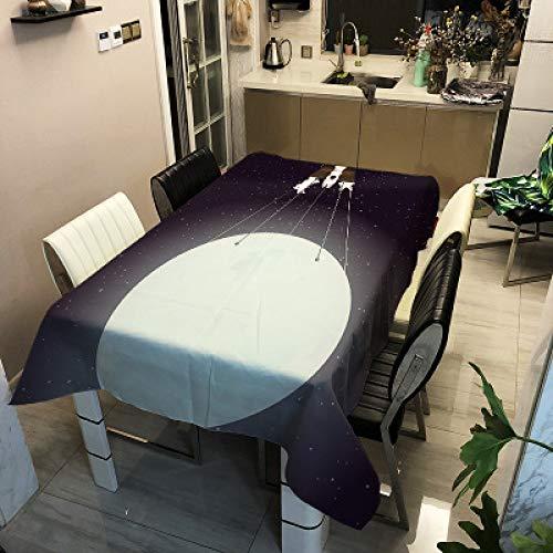 Mantel Impermeable De Poliéster Simple Moderno Serie Conejo con Impresión Digital Mantel Rectangular con Personalidad