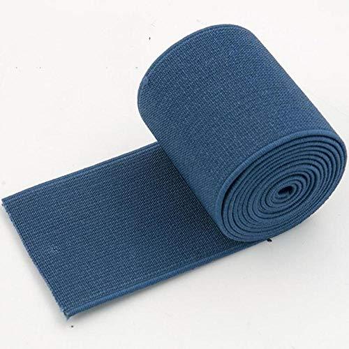 2 meter nylon naaien elastische band zachte huid rubberen band schoenen broek decoratieve elastische singels biaisband tapes diy accessoires, marineblauw, 50 mm