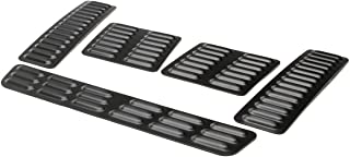 GenRight Off Road LVR-1009 Black 5 Piece - Hood Louver Vent Set For Jeep Cherokee, Wrangler, Universal Fits Any Vehicle