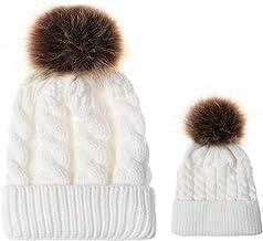 2PCS Parent-Child Hat,Mother & Daughter/Son Winter Warm Knit Hat Family Beanie Cap
