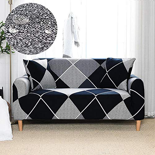 Fsogasilttlv Sofa Slipcover Non Slip Furniture Protector 4 Seater,Waterproof Printed Sofa Cover Elastic All-Inclusive Couch Case For L Shape, Sofa Chair Sofa Case For Pets 235-300cm(1pcs)