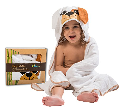 Extra Large Toddler Towel with Hood, Unique Size 48x30 Bonus 2 Washcloths, Organic Hypoallergenic Bamboo Hooded Towel for Kids, Baby Bath Towels with Hood, Great Baby Shower Gift Set for Boy or Girl