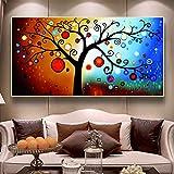 KWzEQ Imprimir en Lienzo Carteles Abstractos de árboles e imágenes de Pared para la decoración de la Sala de Estar decoración del hogar60x120cmPintura sin Marco