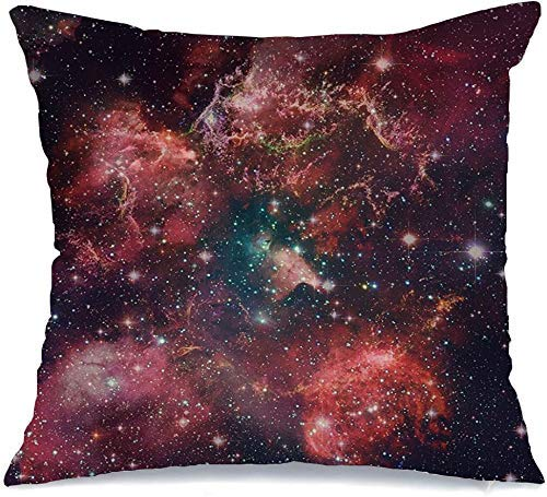Funda de Cojine Throw CojínStellar Cats Galaxy Paw Nebula NGC Black Sky 6334 Lies Way Cosmic New Space Science Noche Abstracto Fundas para almohada 45X45CM