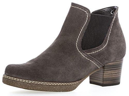 Gabor Damenschuhe 76.661.39 Damen Chelsea Boots, Stiefel, Stiefeletten, in Comfort-Mehrweite, mit Reißverschluss, in Übergrößen, mit Optifit- Wechselfußbett Grau (Dark-gr(S.n/AMA/Mi)), EU 6