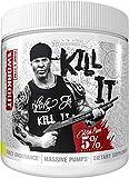 Rich Piana 5% Nutrition Kill IT Pre Workout Powder w/Creatine, Jitter-Free Caffeine, NO-Booster, Beta Alanine, L-Citrulline for Focus, Pump, Endurance, Recovery 13.23 oz, 30 Srvgs (Lemon Lime)