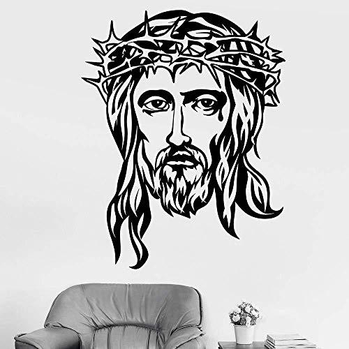 Dios cabeza de jesús religión cristiano cristiano vinilo etiqueta de