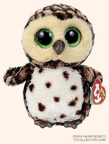New TY Beanie Boos Cute Sammy The Spotted owl Plush Toys 6'' 15cm Ty Plush Animals Big Eyes Eyed Stuffed Animal Soft Toys for Kids Gifts