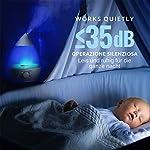 INNObeta Waterdrop 2,4 Litre Ultrasonic Humidificateur d'air pour Bébé, Ambiance, Maison, avec Filtre, Silencieux, Veilleuse, Auto-Arrêt (Jusqu'à 35㎡) #2