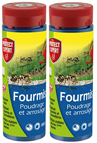 PROTECT EXPERT FOURPOUD600X2 Poudrage Et Arrosage Lot de 2 x 600g Lutte Contre Les Fourmis, Efficient