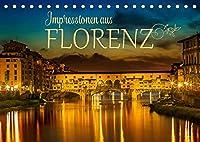 Impressionen aus FLORENZ (Tischkalender 2022 DIN A5 quer): Idylle und historische Bauten (Monatskalender, 14 Seiten )