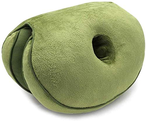 JISHIYU-Q Cojín de espuma viscoelástica, hermosas nalgas del amortiguador de asiento de múltiples funciones plegable Postura de corrección de la cadera del amortiguador del estudiante y de oficina del