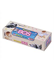驚異の防臭袋 BOS(ボス)Sサイズ大容量200枚入り ペット用うんち処理袋【袋カラー:ピンク】
