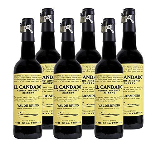 Vino Pedro Ximenez El Candado de 37.5 cl - D.O. Jerez - Bodegas Grupo Estevez (Pack de 6 botellas)