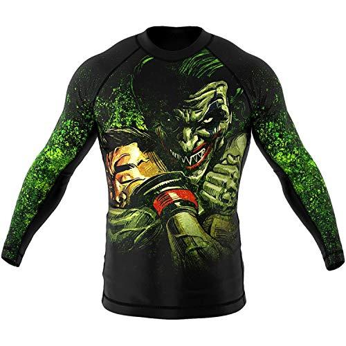 SMMASH The Choker Rashguard Uomo Manica Lunga, Maglietta a Compressione per MMA, Krav Maga, BJJ, Grappling, Traspirante e Leggero, Materiale Antibatterico, Prodotto nell'Unione Europea (L)
