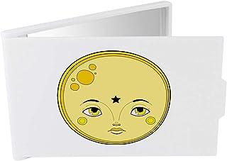 'Yellow Circle Face' Compact / Travel / Pocket Makeup Mirror (CM00024331)