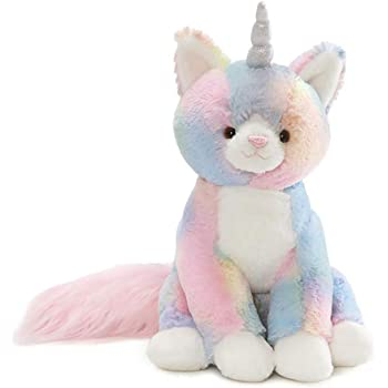 GUND Rainbow Shimmer Caticorn Stuffed Animal Plush, Multicolor, 9""