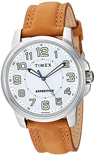Timex Men's TW4B16400 Expedition Field Tan/White Leather Strap Watch