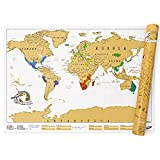 Luckies of London | Scratch Map Original Edition | World Map Scratch Art | Scratch Off Map | World Map Wall Art | The Original Scratch Map Creators |