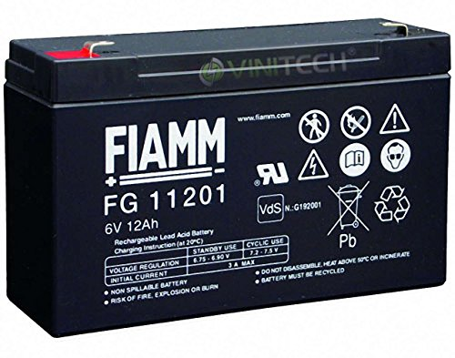 Original FIAMM FG11201 Akku 6V 12Ah Bleiakku Blei Gel Akku FG 11201 AGM Bleigel USV