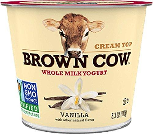 Brown Cow Cream Top Yogurt, Vanilla, 5.3 Ounce (Pack of 12)