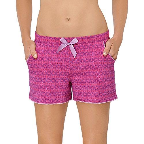 Schiesser Damen Schlafanzughose Shorts Rot (pink 504) 46 (Herstellergröße: 046)
