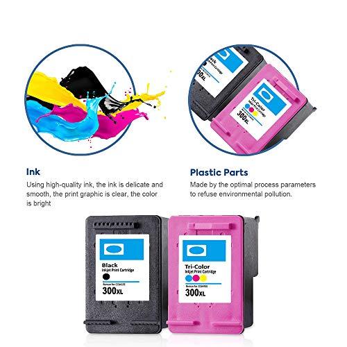 SMARTOMI Remanufacturado 300XL 300 Compatibles con HP 300 XL para Deskjet D2560 D2660 D2680 D5560 Deskjet F4240 F4280 F4435 F4480 AIO Envy 110 114 120 eAIO Photosmart C4640 C4650 C4680 C4740 C4780