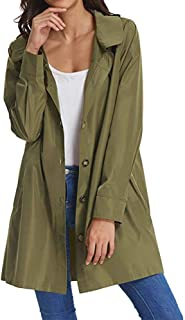 Beyove Women Long Sleeve Lightweight Waterproof Outdoor Raincoat W/Hooded