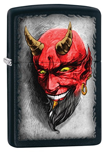 Zippo Devil Black Matte Pocket Lighter