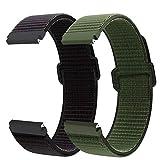 Correa de reloj de nailon 22 mm para Galaxy Watch 3 45mm/Huawei watch GT 46mm, Correa para Galaxy Watch 46mm/Galaxy Watch 3 45mm/Gear S3 Classic/Frontier/Huawei watch GT 2 46mm/Fossil Gen 5