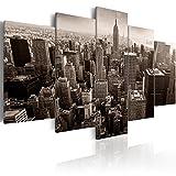 murando - Cuadro en Lienzo 200x100 cm Impresión de 5 Piezas Material Tejido no Tejido Impresión Artística Imagen Gráfica Decoracion de Pared New York City Ciudad NY d-B-0065-b-m