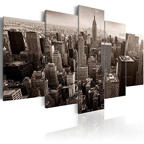 murando Handart Cuadro en Lienzo 225x112 cm 5 Piezas Cuadros Decoracion Salon Modernos Dormitorio Impresión Pintura Moderna Arte Ciudad d-B-0065-b-m