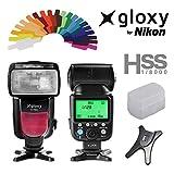 Flash TTL Auto FP Gloxy GX-F990 Para Nikon D3400, D3200, D3300, D7100, D5100, D5200, D5300, D500, D7000, D800, D90, D600