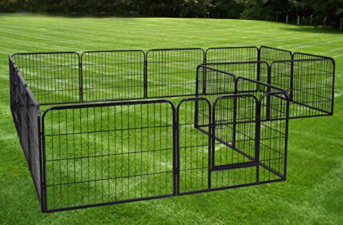 """Exercise Barrier Fence Metal 24"""" Tall"""