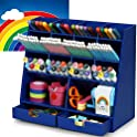 Desk Organizer with 14 Compartments & 2 Drawers (Blue or Pink)