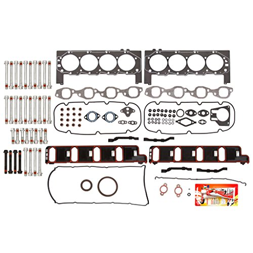 Compatible With Chevrolet Avalanche Silverado GMC Yukon 8.1 OHV Full Gasket Set Head Bolts