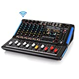 8-Channel Bluetooth Studio Audio Mixer - DJ Sound Controller Interface w/ USB Drive for PC Recording...