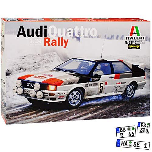 A-U-D-I Quattro Rally Mikkola Hertz 3642 Kit Bausatz 1/24 Italeri Modell Auto