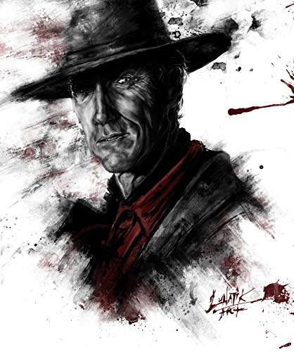 Clint Eastwood poster/Clint Eastwood tribute piece/painting canvas/portrait photo merchandise/decorations wall home/decor art items