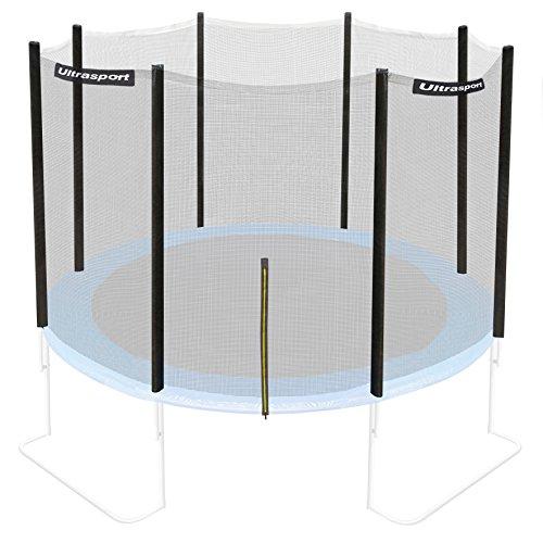 Ultrasport Trampolin/Sicherheitsnetz für Gartentrampoline, kompatibel mit Jumper Modell, Trampolin-Zubehör, Ersatznetz, mit Reißverschluss, UV-beständig, Netzhöhe ca. 180 cm, Ø 180cm - 430cm