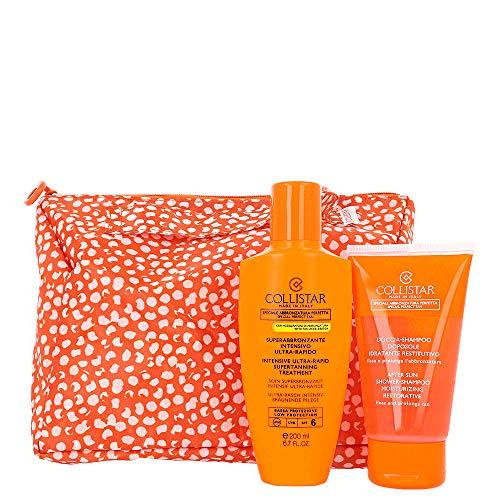 Superabbronzante Intensivo Ultra-Rapido SPF 6 + Doccia Shampoo Doposole + Pochette