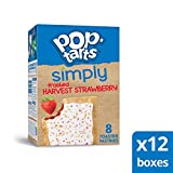 Simply Pop-Tarts, Toaster Pastries, Frosted Harvest Strawberry, Non-GMO Project Verified, 13.5oz Box (Pack of 12)