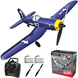 RC Plane 4 Channel Remote Controlled Aircraft Ready to Fly, One Key Aerobatic and One-Key U-Turn, Easy Control for Beginners, F4U Corsair RC Airplane Best Gift for Advanced Kids LEAMBE